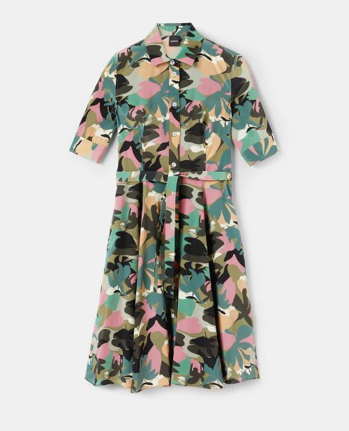 COTTON CANVAS CHEMISIER DRESS