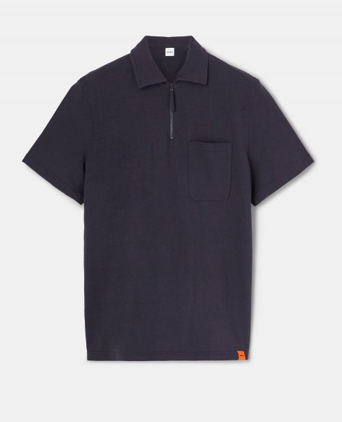 ULTRA-LIGHTWEIGHT COTTON FLEECE POLO