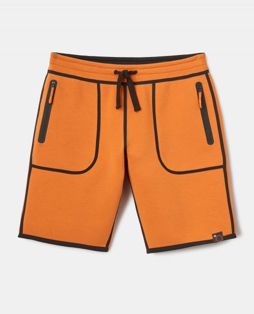 REVERSIBLE DOUBLE JERSEY BERMUDA SHORTS