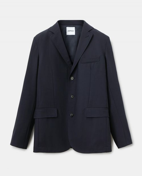 TECHNICAL POLYESTER-WOOL JACKET