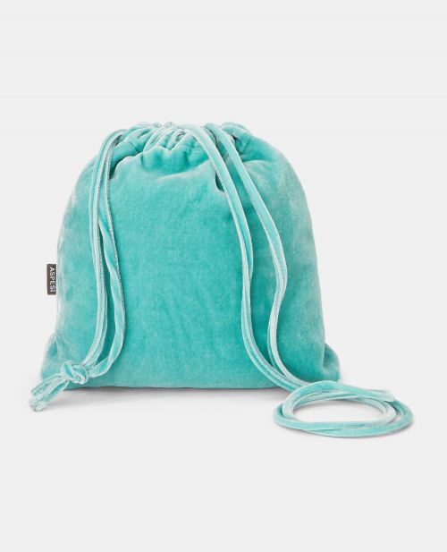 SILK VELVET BUCKET BAG