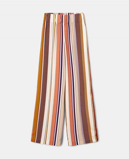 MULTI-STRIPE VISCOSE PANTS