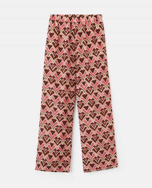 CREPE-DE-CHINE PANTS
