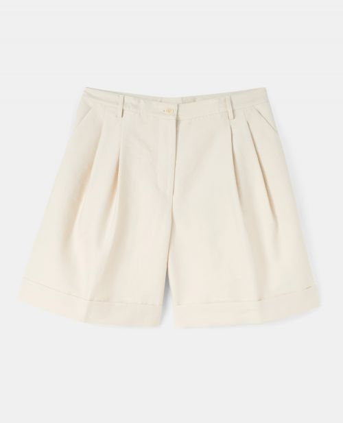 COTTON-NYLON CANVAS SHORTS