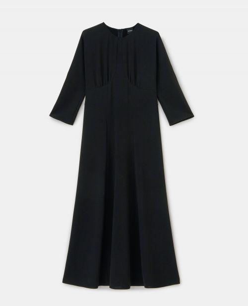 CADY CREPE CREW NECK DRESS