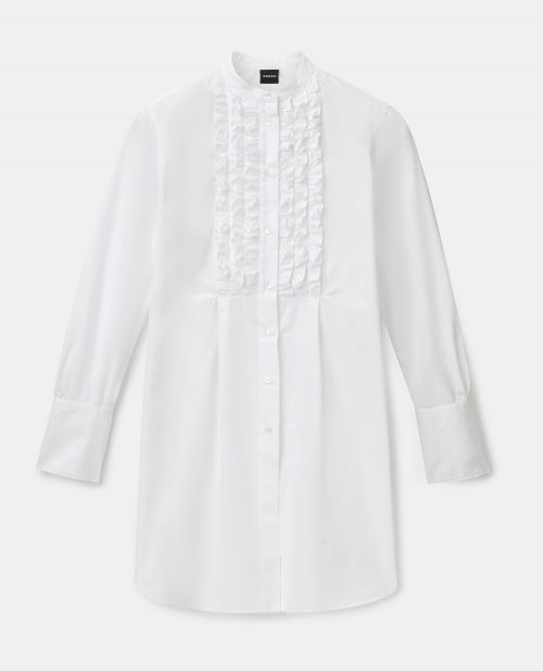 COTTON POPLIN LONGUETTE SHIRT