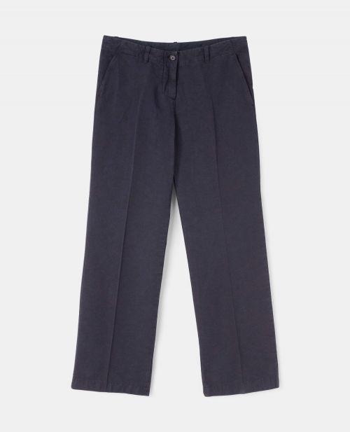 COTTON-LINEN CANVAS PANTS