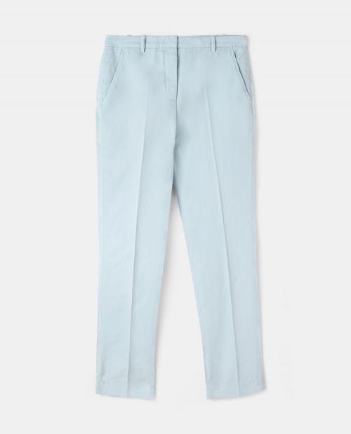COTTON-LINEN GABARDINE PANTS
