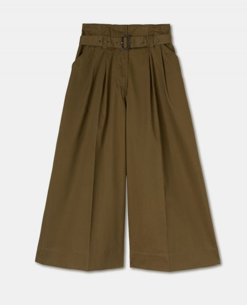 COTTON GABARDINE PANTS