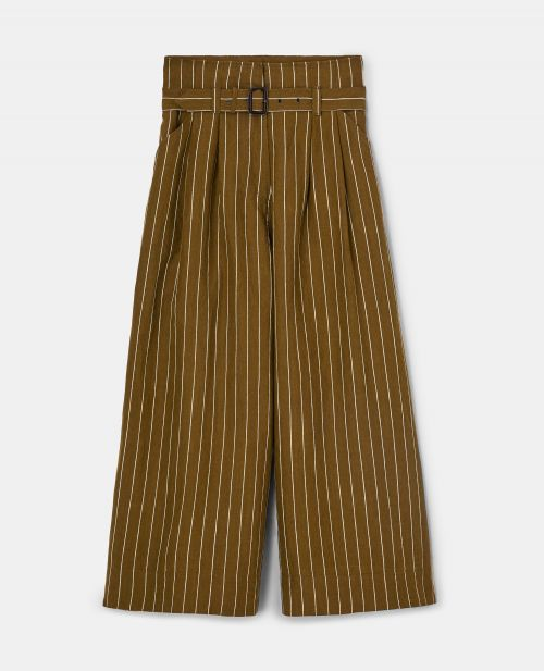 PINSTRIPE LINEN PANTS
