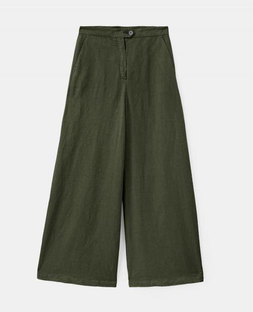 COTTON-LINEN TWILL PANTS