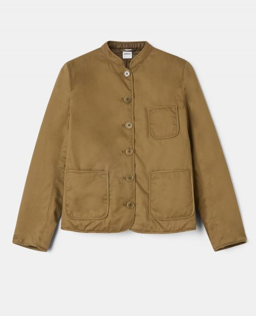 COTTON GABARDINE  WORK  SHIRT-JACKET