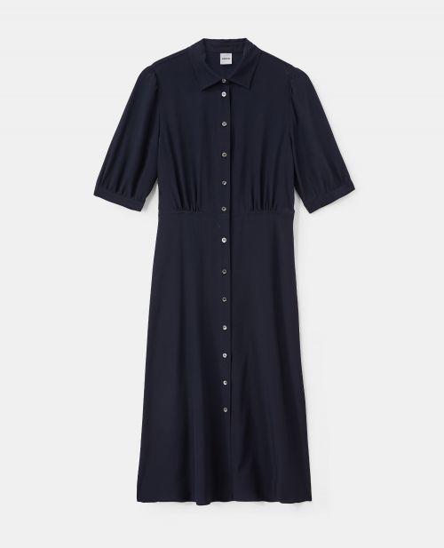 SILK CREPE-DE-CHINE CHEMISIER DRESS