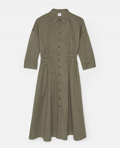 COTTON GABARDINE CHEMISIER DRESS