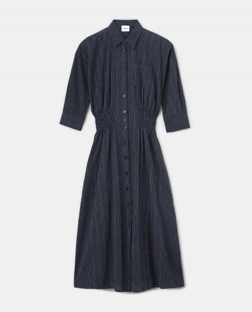 SEERSUCKER CHEMISIER DRESS