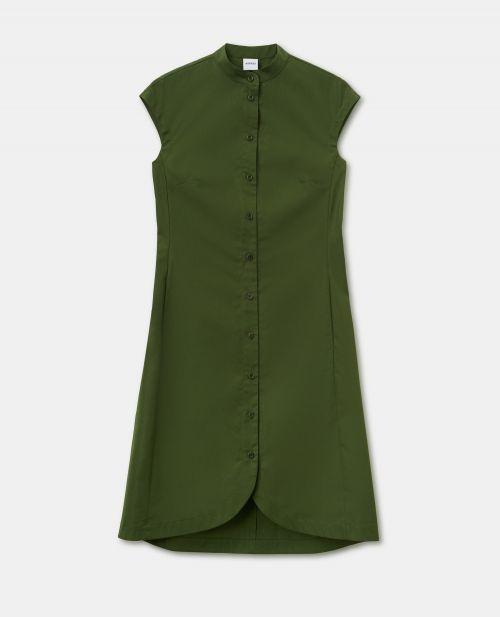 VISCOSE JACQUARD CHEMISIER DRESS