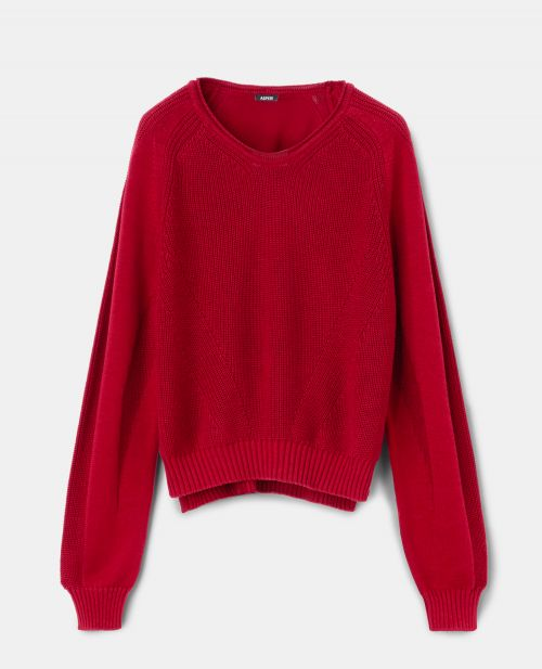 PURE COTTON YARN KNIT PULLOVER
