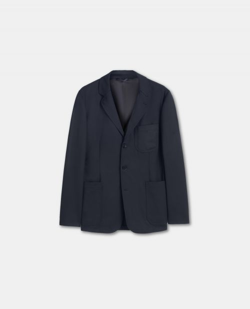 UNSTRUCTURED WOOL TWILL JACKET