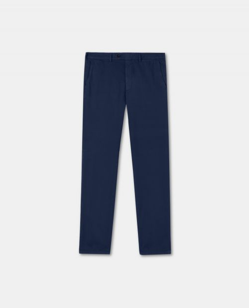 STRETCH COTTON-WOOL PANTS