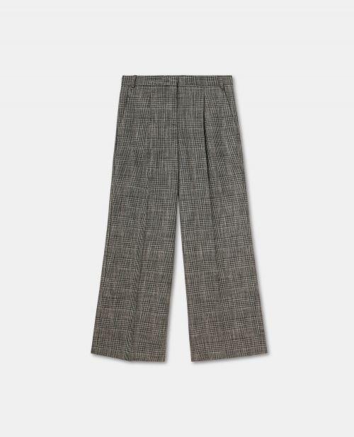 VISCOSE CANVAS BOYFRIEND PANTS