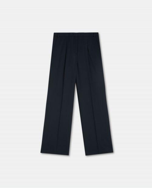 WOOL BLEND BOYFRIEND PANTS