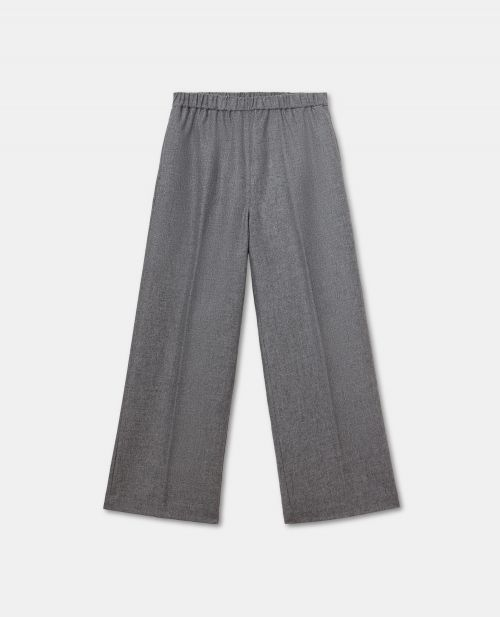 WOOL-CASHMERE FLANNEL PANTS