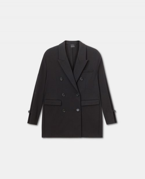DOUBLE-BREASTED MILAN-STITCH JACKET