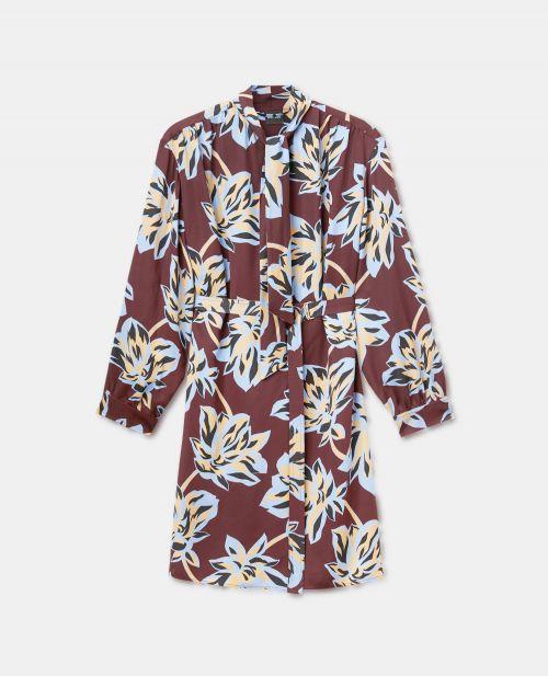 PRINTED VISCOSE CREPE DRESS