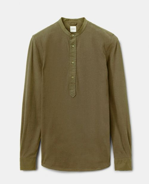 PEACHED COTTON JERSEY POLO SHIRT