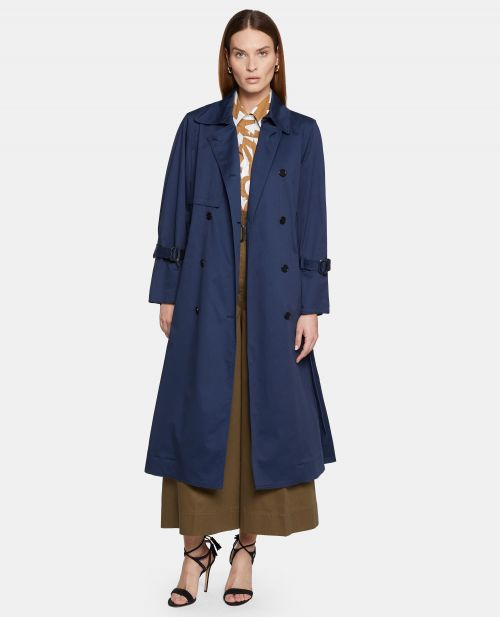 TRENCH IN GABARDINE DI COTONE STRETCH