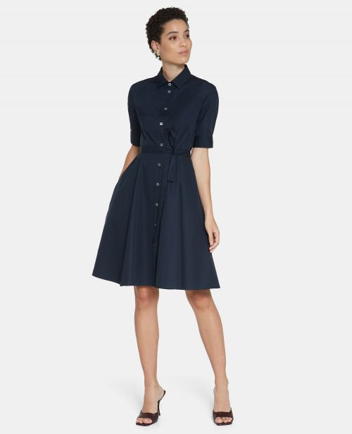 COTTON POPLIN CHEMISIER DRESS