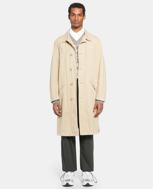 unlined cotton gabardine raincoat