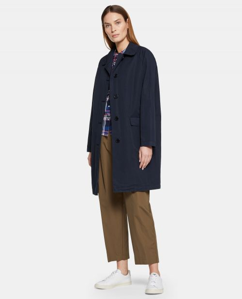 LINEN-COTTON CANVAS OVERCOAT