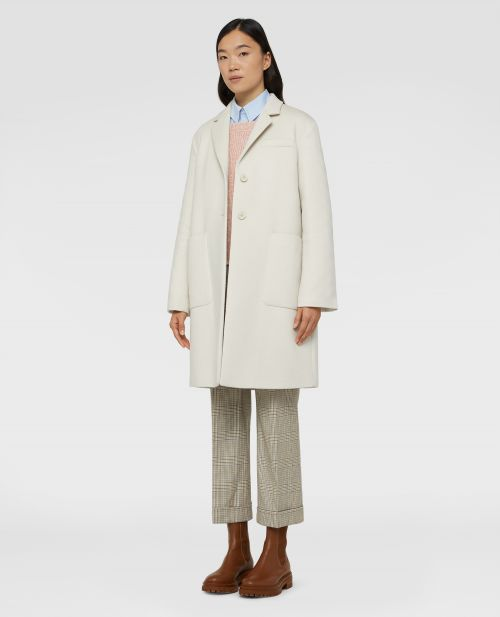 DOUBLE-KNIT WOOL-CASHMERE-SILK COAT