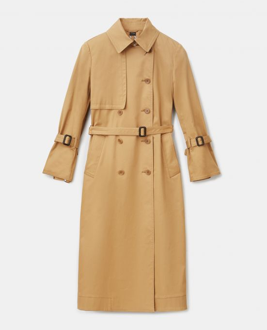 STRETCH COTTON GABARDINE TRENCH