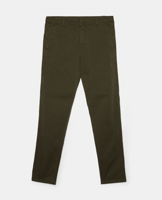 STRETCH GABARDINE CHINO PANTS