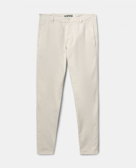 COTTON GABARDINE CHINO PANTS