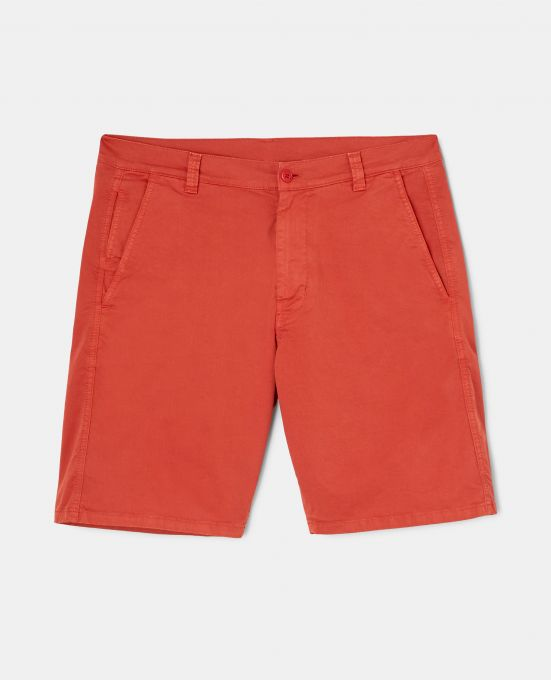 STRETCH GABARDINE BERMUDA CHINO SHORTS