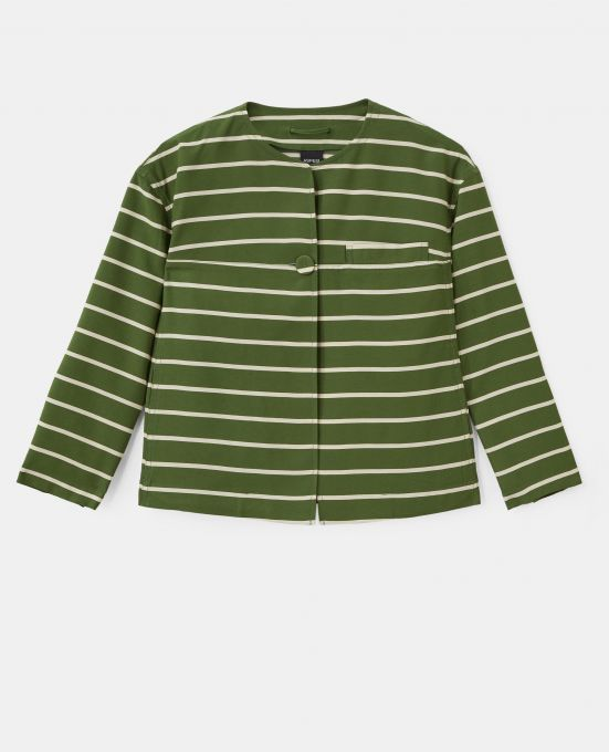 STRIPED VISCOSE JACKET