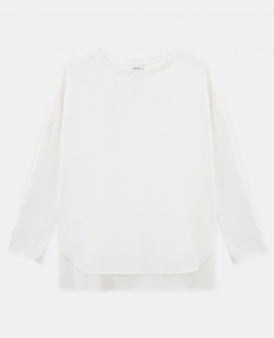 SILK CREPE-DE-CHINE T-SHIRT