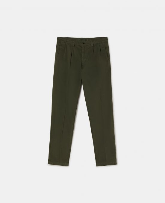 COTTON GABARDINE CHINO PANTS